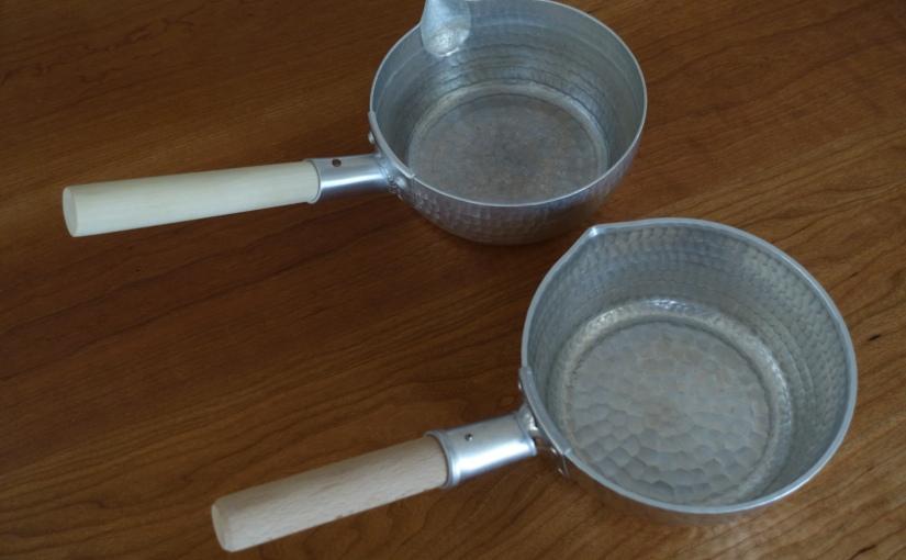 有次と姫野工作所の行平鍋の比較
